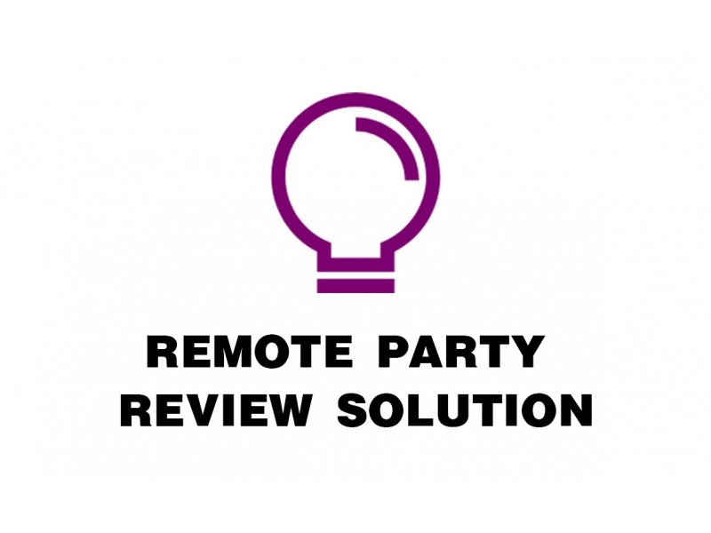 Remote party review solution